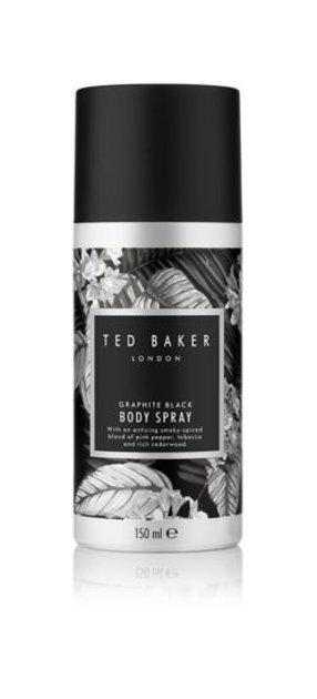 PĒDĒJĀ IESPĒJA! Ted Baker Body Spray Graphite Black 150ml Ķermeņa sprejs vīriešiem