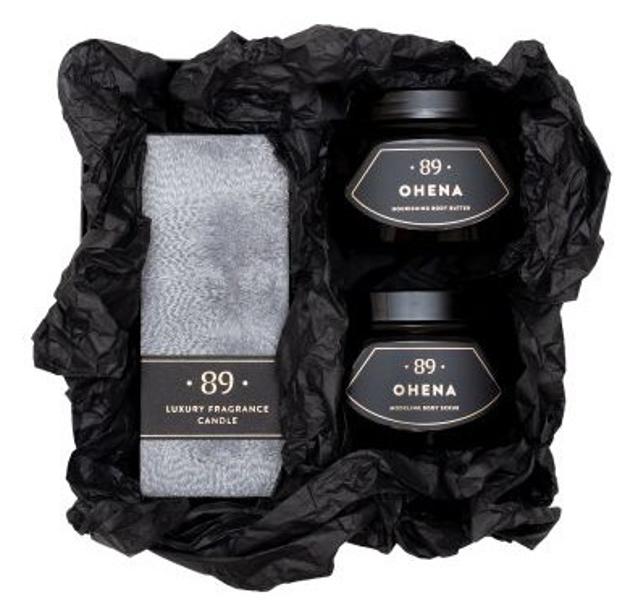 AROMATIC • 89 • OHENA SET CANDLE SCRUB BUTTER Dāvanu komplekts